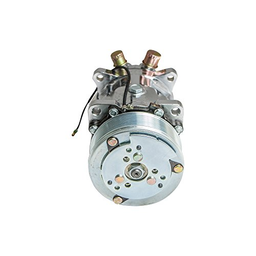 Top-Street-Performance-HC5004C-AC-Compressor-with-Silver-Clutch-Chromed-Serpentine-Belt-Sanden-508-R134A-Type-0-0