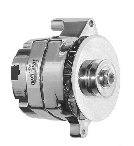 Tuff-Stuff-7068RD6G-Chrome-1-Wire-6-Groove-Pulley-Alternator-for-Ford-0
