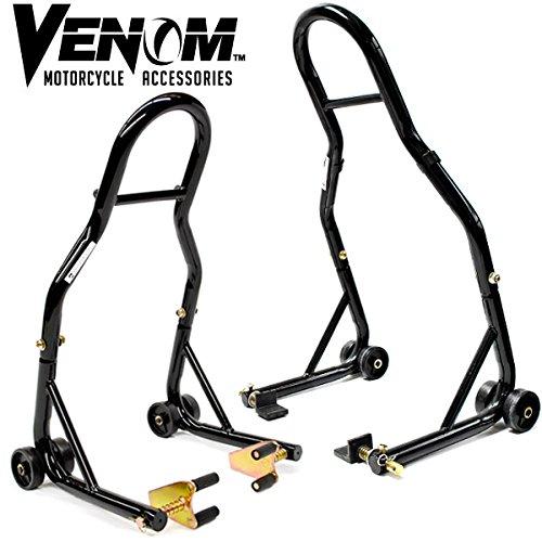 Venom-Sport-Bike-Motorcycle-Front-Fork-Rear-Paddle-Combo-Wheel-Lift-Stands-Paddock-Stands-Universal-Motorcycle-Combo-Yamaha-Fits-Honda-Kawasaki-Suzuki-Ducati-BMW-0