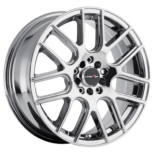 Vision-Cross-16-Chrome-Wheel-Rim-5×110-5×115-with-a-38mm-Offset-and-a-731-Hub-Bore-Partnumber-426-6768PC38-0