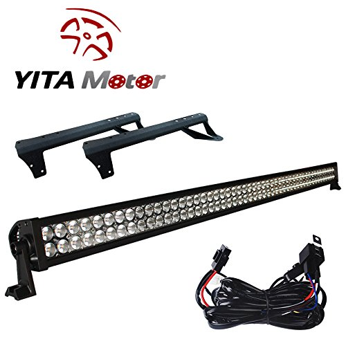 YITAMOTOR-1X-5452-inch-300W-LED-Light-Bar-Mounting-Brackets-For-Jeep-JK-Wrangler-Wiring-Kit-0