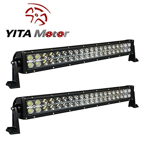 YITAMOTOR-2-X-120W-24-inch-Spot-Flood-Combo-LED-Light-Bar-Car-4WD-SUV-Truck-ATV-UTE-Offroad-0