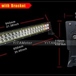YITAMOTOR-2-X-120W-24-inch-Spot-Flood-Combo-Work-LED-Light-Bar-Driving-Off-Road-SUV-Car-BoatFree-Wiring-Harness-0-1