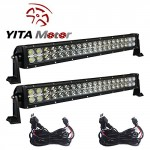 YITAMOTOR-2-X-120W-24-inch-Spot-Flood-Combo-Work-LED-Light-Bar-Driving-Off-Road-SUV-Car-BoatFree-Wiring-Harness-0