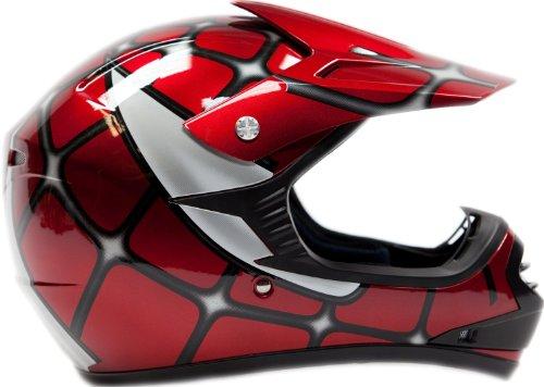 Youth-Offroad-Gear-Combo-Helmet-Gloves-Goggles-DOT-Motocross-ATV-Dirt-Bike-MX-Spiderman-Red-0-1