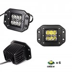 iJDMTOY-2-Dually-Flush-Mount-24W-CREE-LED-Pod-Lights-For-Truck-Jeep-Off-Road-ATV-4WD-4×4-etc-0-0