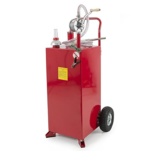 ARKSEN-30-Gallon-Portable-Fuel-Transfer-Gas-Can-Caddy-Storage-Tank-Red-0