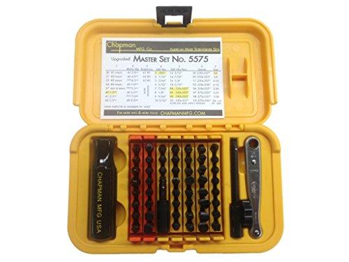 Chapman-MFG-5575-Master-Kit-USA-Made-Screwdriver-Kit-Allen-Hex-Metric-Allen-Hex-StarTorx-Phillips-Reed-Prince-Robertson-Socket-Adapter-Midget-Ratchet-2016-Version-0