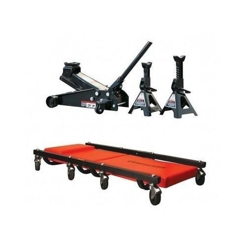 Craftsman-3-Ton-Floor-Jack-Jack-Stands-and-Creeper-Set-by-Craftsman-0