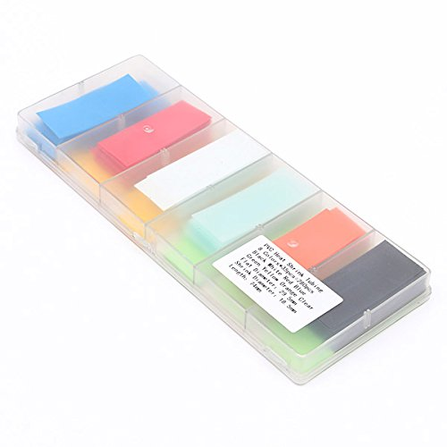 Ninth-City-280pcs-8-Color-Assorted-Box-295MM185MM-Flat-PVC-Heat-Shrink-Tubing-Tube-For-18650-18500-Battery-with-Storage-Case-0-0