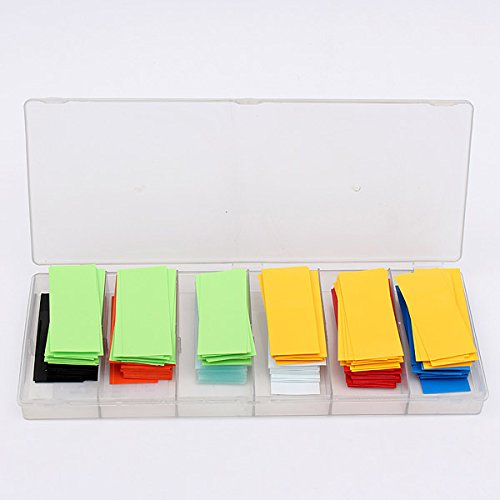 Ninth-City-280pcs-8-Color-Assorted-Box-295MM185MM-Flat-PVC-Heat-Shrink-Tubing-Tube-For-18650-18500-Battery-with-Storage-Case-0-1