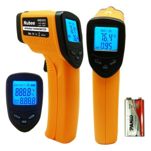 Nubee-8380H-Non-contact-Infrared-Thermometer-Temperature-Gun-with-Laser-Sight-MAX-Display-0