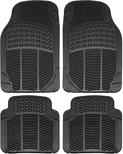 OxGord-FMPV01A-BK-Front-Rear-Driver-Passenger-Seat-Ridged-Heavy-Duty-Rubber-Floor-Mats-for-Cars-SUVs-Vans-Trucks-Black-Pack-of-4-0