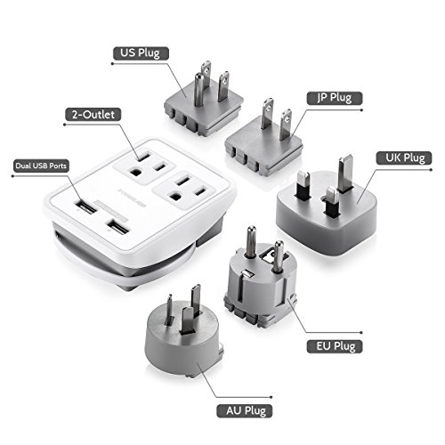 Poweradd-UL-Listed-2-Outlet-International-Travel-Charger-Adapter-with-Interchangeable-Worldwide-UKUSAUEU-Plugs-Dual-USB-Charging-Ports-Input-Voltage-100V240V-0-1