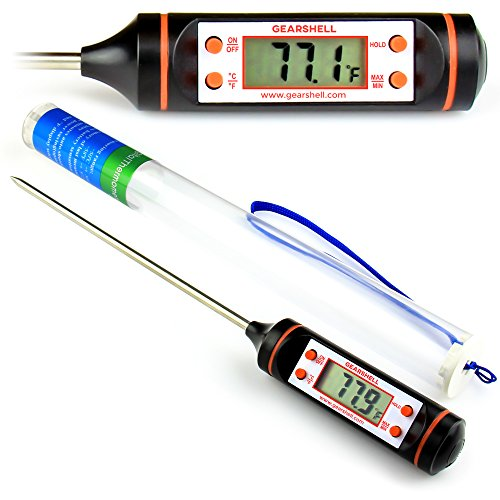 Premium-Digital-Cooking-Thermometer-60-Larger-Display-Longer-Probe-Instant-Read-Thermometer-for-Meat-Candy-BBQ-Grill-Thermometer-Candy-Thermometer-Deep-Fry-Thermometer-Battery-Included-0